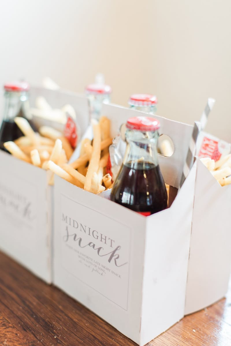 Unusual Wedding Gifts For Guests : Late-Night Reception Snacks to Keep the Party Rocking! I DO YALL